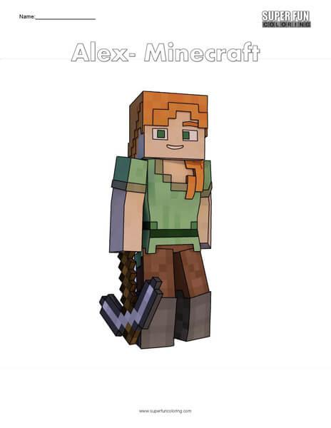 Alex- Minecraft Free Coloring