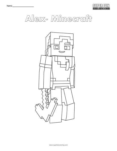 Alex- Minecraft Coloring