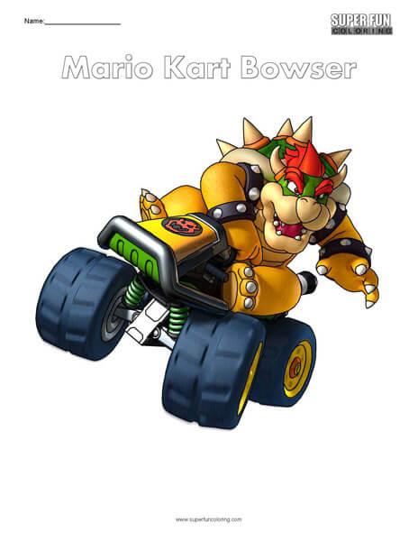 Bowser- Mario Kart Coloring