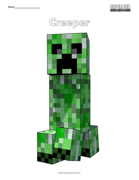 Creeper- Minecraft Coloring