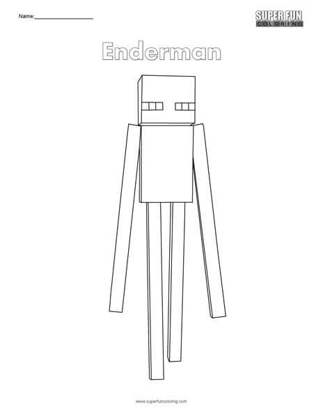Enderman- Minecraft Coloring