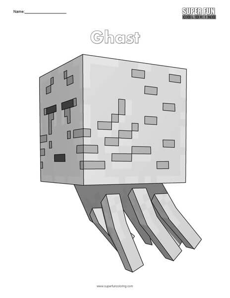 Ghast- Minecraft Free Coloring