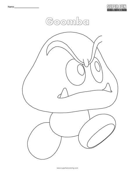 Goomba- Nintendo Coloring
