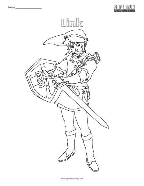 Link- Nintendo Coloring