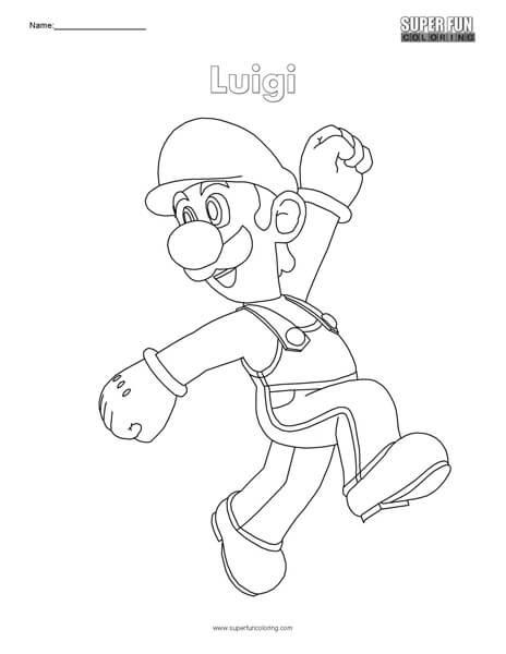 Luigi- Super Mario Coloring- Nintendo Coloring