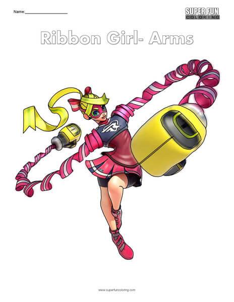 Ribbon Girl- Arms Coloring