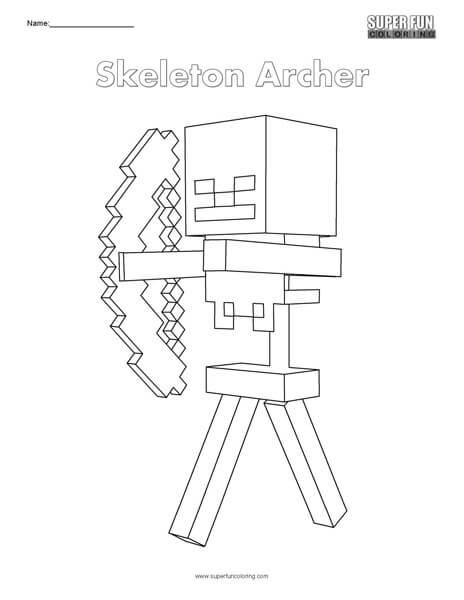 Skeleton Archer- Minecraft Coloring