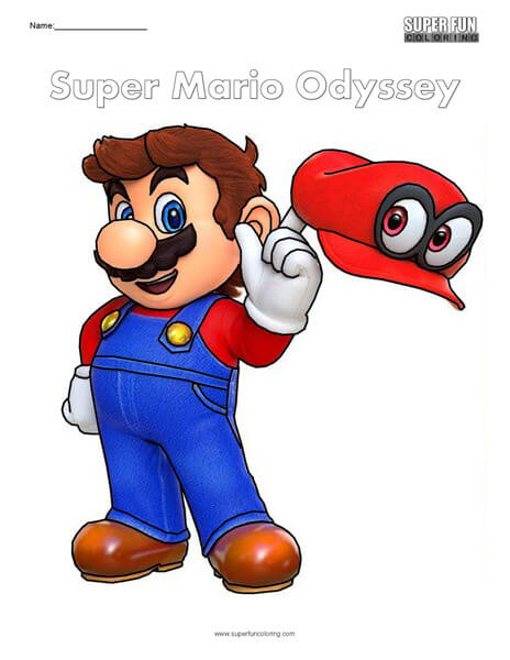 Super Mario Odyssey Nintendo Coloring Super Fun Coloring