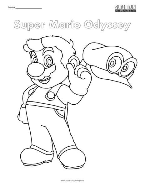 - Super Mario Odyssey- Nintendo Coloring - Super Fun Coloring