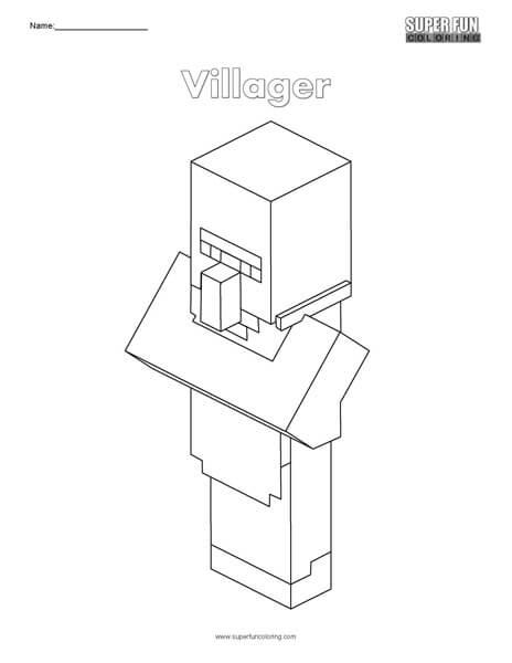 Villager- Minecraft Coloring