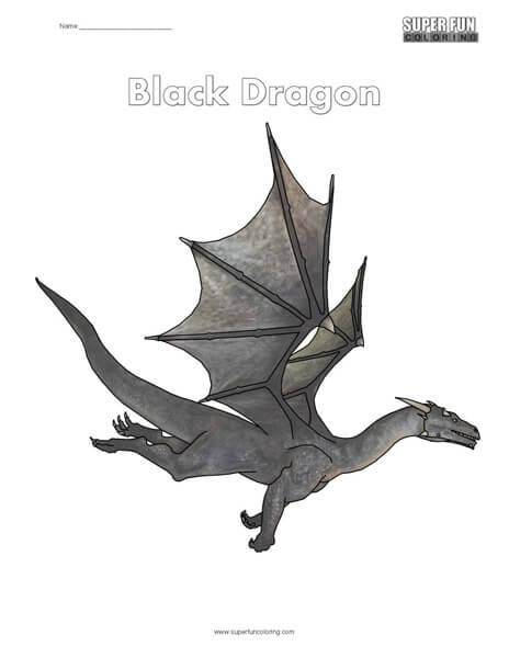 Black Dragon Coloring
