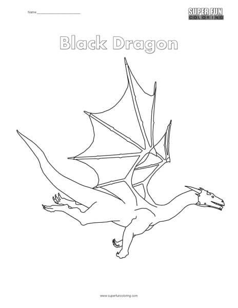 Black Dragon Coloring Page