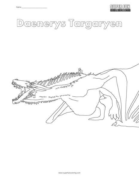 Daenerys Targaryen Coloring Page
