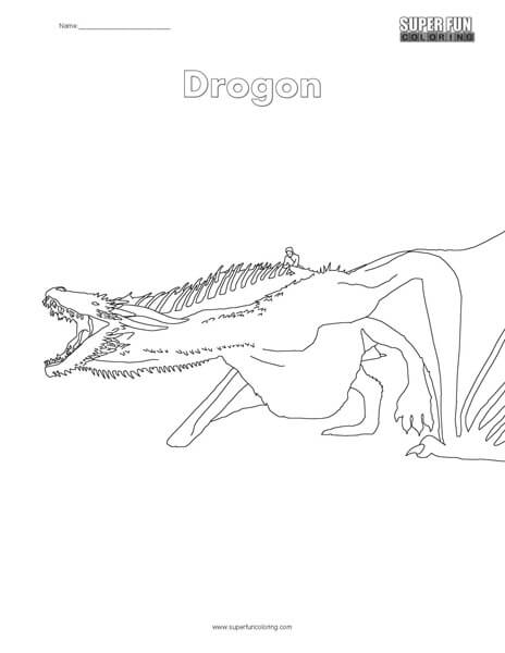Drogon Coloring Page