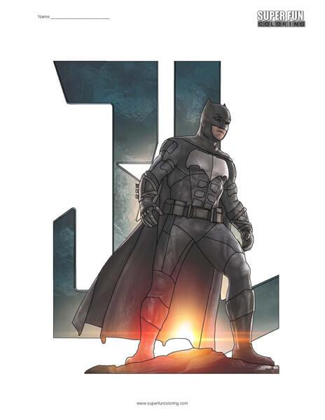 Justice League Batman Coloring Page