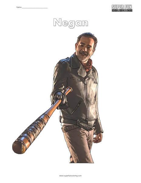 Negan Walking Dead Coloring Page