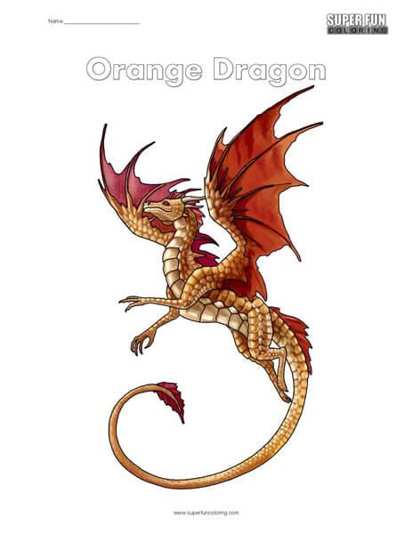 Orange Dragon Coloring