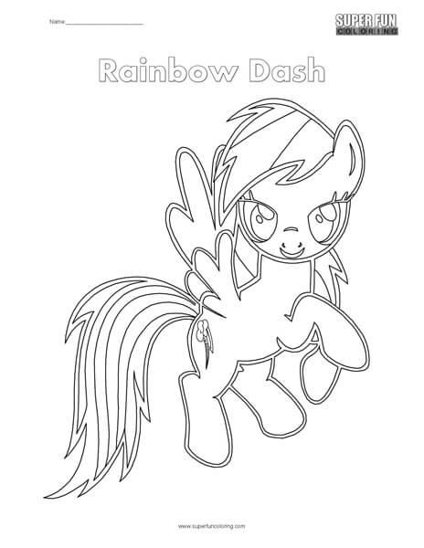 Rainbow Dash Coloring Page Super Fun Coloring