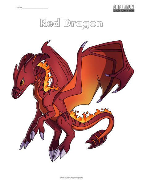 Red Dragon Coloring