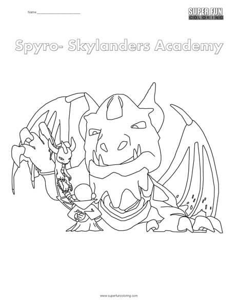 Skylanders Spyro Coloring Page
