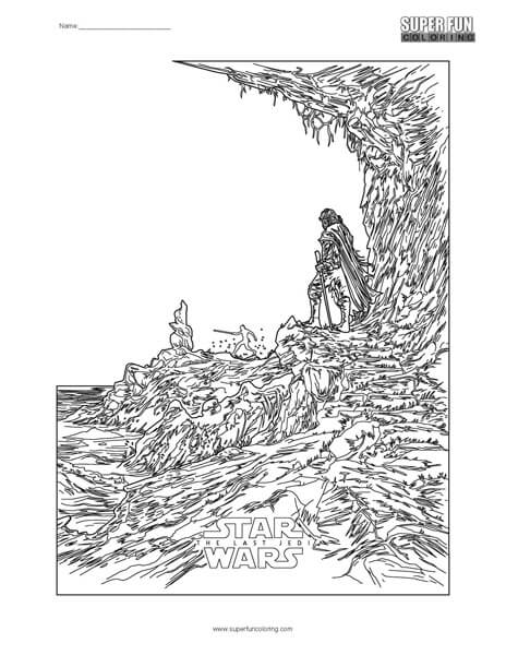 Star Wars- The Last Jedi Coloring Page