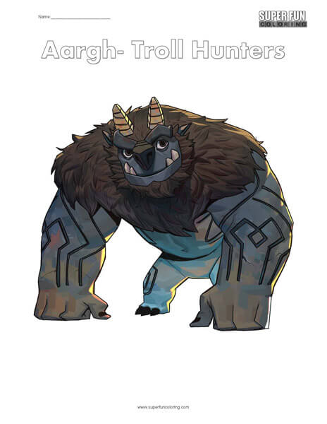Troll Hunters Coloring
