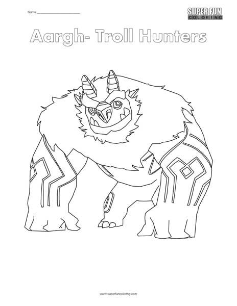 Troll Hunters Coloring Page Super Fun Coloring