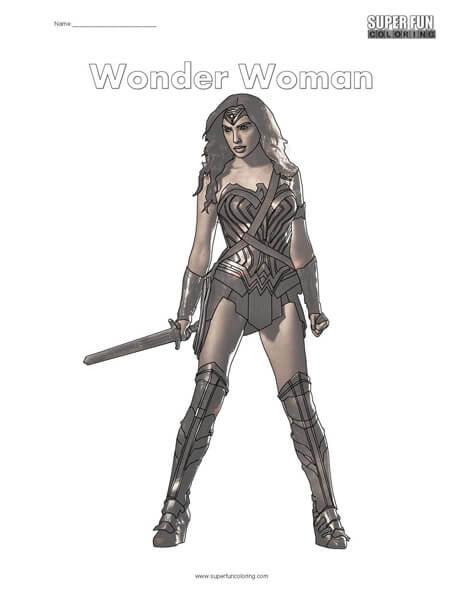 Wonder Woman Coloring