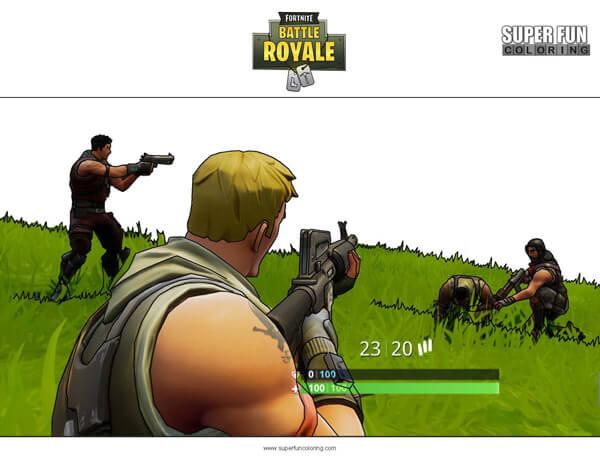 Fortnite Battle Royale Coloring Page