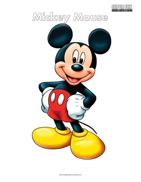 Mickey Mouse Coloring Page Disney