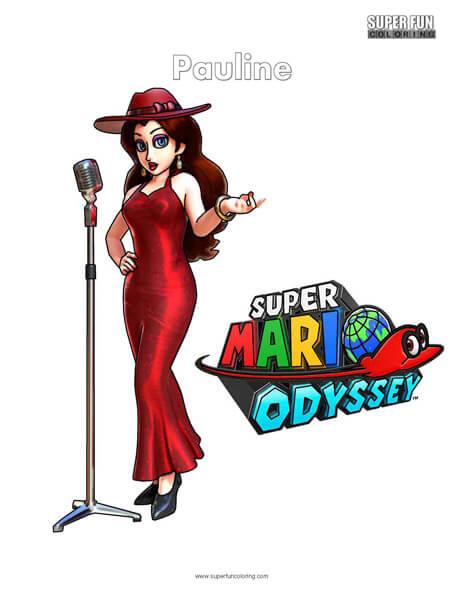 Pauline- Nintendo Coloring Super Mario Odyssey