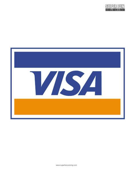 Visa Logo Coloring Page Free