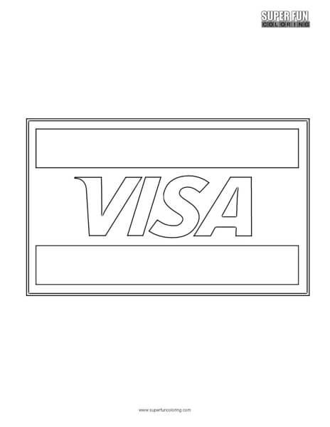 Visa Logo Coloring Page