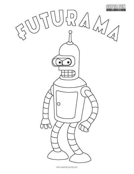 Bender Futurama Coloring Sheet