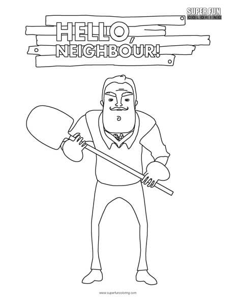 Hello Neighbor Coloring Page