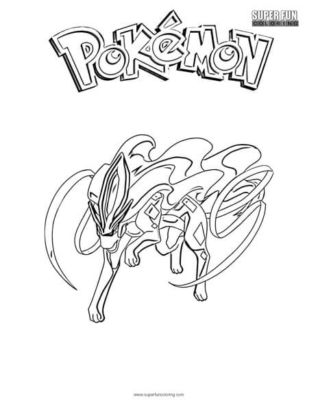Suicine Pokemon Coloring Page