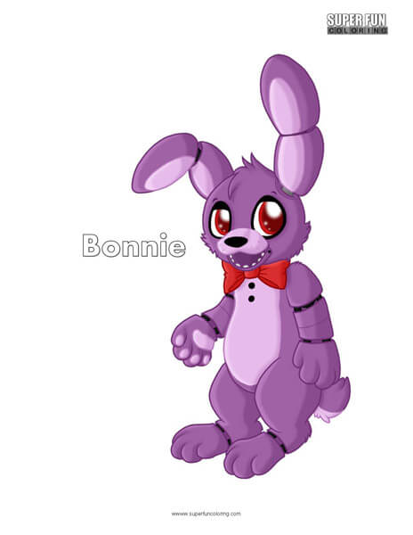 Bonnie- FNAF Coloring Sheet Five Nights at Freddy's