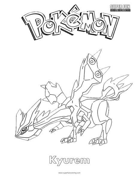 Pokémon Kyurem Coloring Page