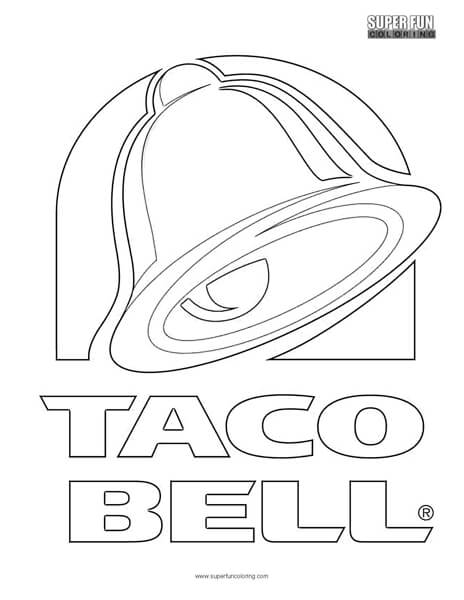 Taco Bell Logo Coloring Page Super