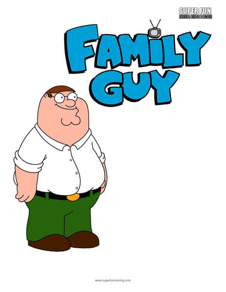 Peter Griffin Family Guy Coloring Sheet