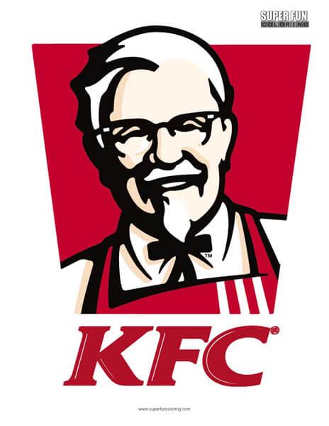 KFC Logo Coloring Page Free