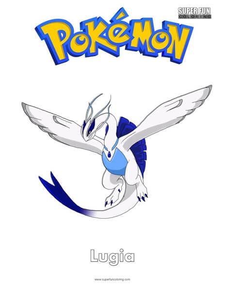 Lugia Pokémon Coloring Page