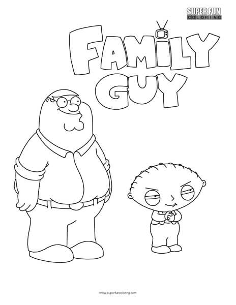Family Guy Coloring Sheet
