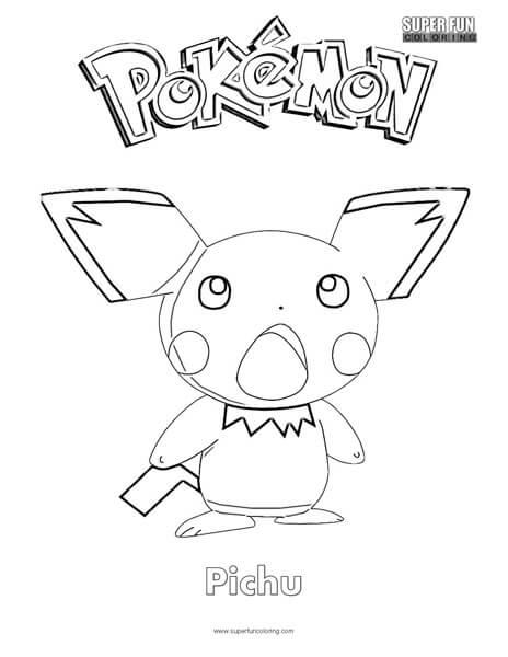 Pokémon Pichu Coloring Page Super Fun
