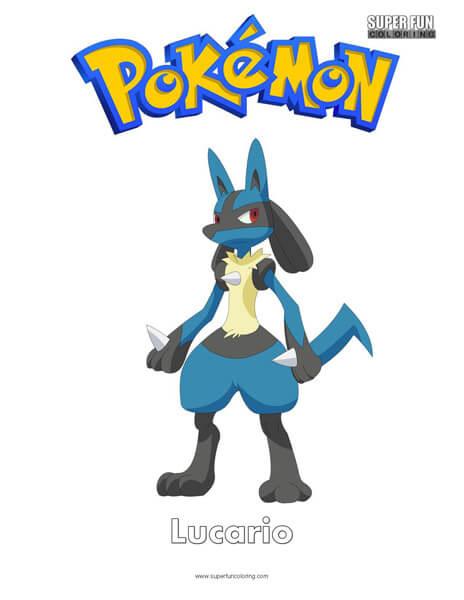 Pokémon Lucario  Coloring Page