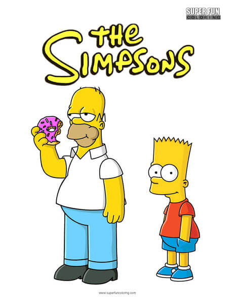 The Simpsons Coloring Sheet