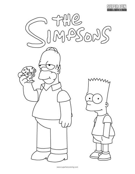 The Simpsons Coloring Sheets