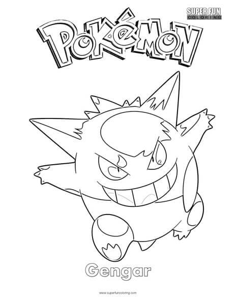 Pokémon Gengar Coloring Page