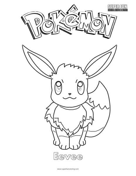 Pokémon Eevee Coloring Page