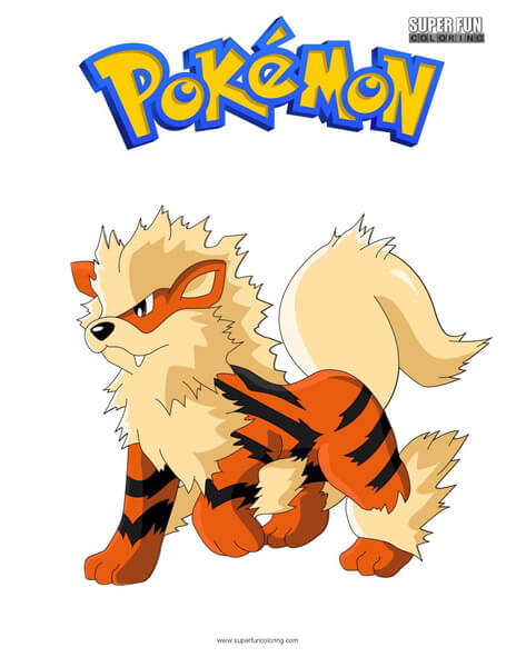 Arcanine Pokemon Coloring Page